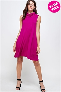 C78-A-3-WD4333X FUCHSIA PLUS SIZE DRESS 2-2-2