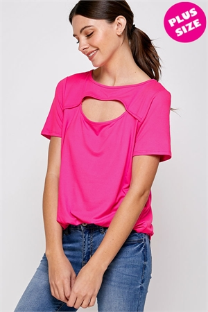 C78-A-1-WT2410X FUCHSIA PLUS SIZE TOP 2-2-2