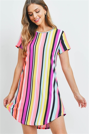 C54-A-3-D23363 MULTI STRIPES DRESS 1-1-2-2