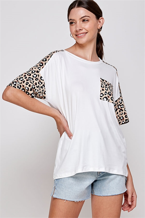 C86-A-2-WT6414 IVORY LEOPARD TOP 2-2-2