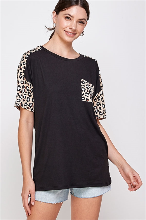 C86-A-2-WT6414 BLACK LEOPARD TOP 2-2-2