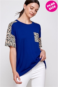 C80-A-2-WT6414X ROYAL LEOPARD PLUS SIZE TOP 2-2-2