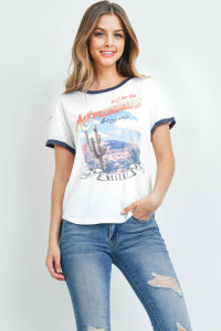"S7-8-4-T701 WHITE ""ADVENTURE PRINT"" PRINT TOP 2-2-2"