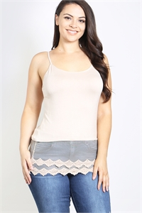 S15-7-3-CM237X072LB LIGHT BEIGE PLUS SIZE TOP 2-2-1