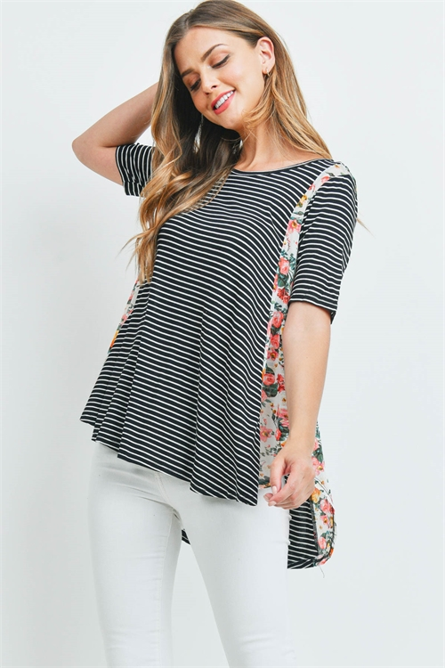C20-A-1-T71765 IVORY STRIPES FLORAL TOP 3-2