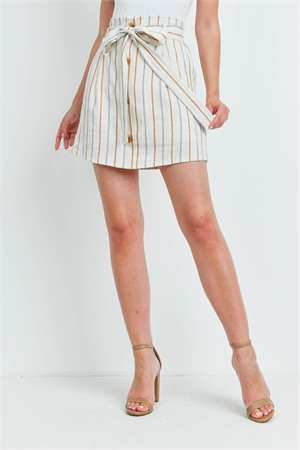 C34-A-3-S20663 TAUPE STRIPES SKIRT 2-2-2