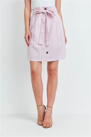 C40-A-2-S20597 PINK STRIPES SKIRT 2-2-2