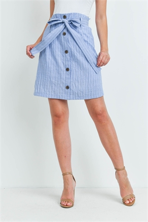 C40-A-3-S20597 DENIM STRIPES SKIRT 2-2-2