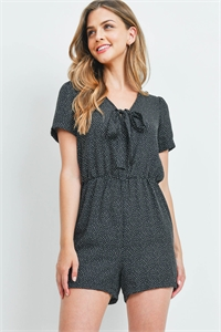 C48-A-3-R14686 BLACK WITH DOTS ROMPER 2-2-2
