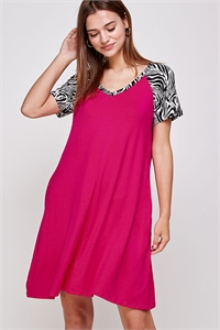 C26-A-3-WD4409 FUCHSIA DRESS 2-2-2