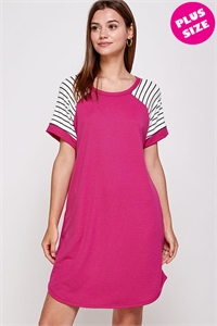 C34-A-2-WD1103X FUCHSIA PLUS SIZE DRESS 2-2-2