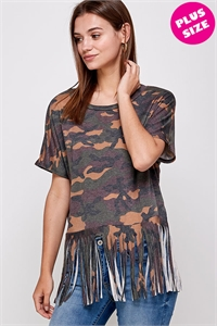 C34-A-3-WT2437X CAMOUFLAGE PLUS SIZE TOP 2-2-2