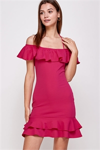 C18-A-2-WD1114 FUCHSIA DRESS 2-2-2