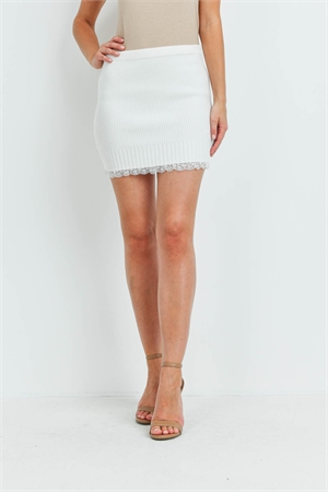 S13-7-2-S4324A OFF WHITE SKIRT 3-2-1
