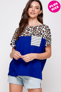 C16-A-1-WT2422X ROYAL LEOPARD PLUS SIZE TOP 2-2-2