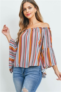 S13-3-1-T2217 MULTI STRIPES TOP 2-2-2