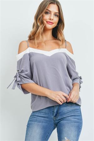 S13-6-3-T1551 ASH GRAY OFF WHITE TOP 2-2-2