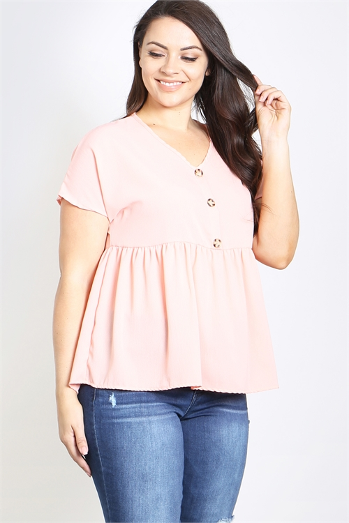 C30-A-1-T4571X PEACH PLUS SIZE TOP 2-2-2