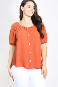 C18-A-1-T4550X RUST PLUS SIZE TOP 2-2-2