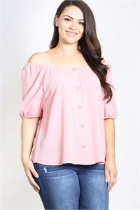 C18-A-1-T4550X MAUVE PLUS SIZE TOP 2-2-2