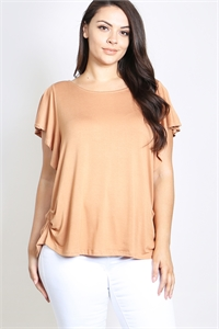 C26-A-1-T4560X CAMEL PLUS SIZE TOP 2-2-2