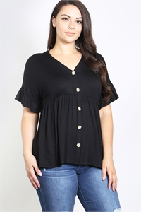 C22-A-3-T3864X BLACK PLUS SIZE TOP 2-2-2