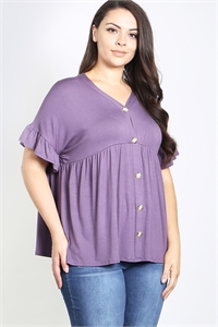 C22-A-3-T3864X PLUM PLUS SIZE TOP 2-2-2