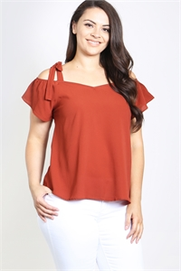 C12-A-3-T4590X RUST PLUS SIZE TOP 2-2-2