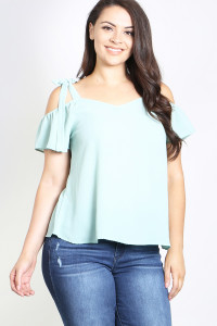 C12-A-3-T4590X SAGE PLUS SIZE TOP 2-2-2