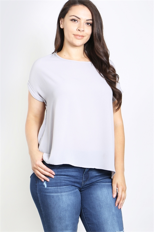 C38-A-1-T4505X SILVER PLUS SIZE TOP 1-1-1