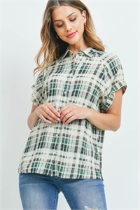 S9-14-2-T7372 GREEN CHECKERED TOP 2-2-2
