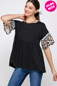C32-A-1-WT2420X BLACK PLUS SIZE TOP 2-2-2