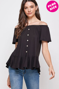 C82-A-2-WT2435X BLACK PLUS SIZE TOP 2-2-2
