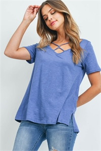 C58-A-3-T7250 DARK DENIM TOP 2-2-2