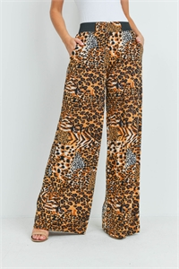 S12-10-1-LG237X222 ANIMAL PRINT PANTS / 6PCS