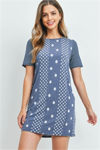 C68-A-1-D9988 NAVY POLKA DOTS DRESS 2-2-2