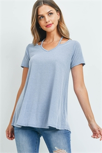 C60-A-1-T7476 BABY BLUE TOP 1-2-2