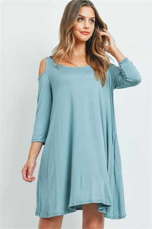 C82-A-3-D3008 DUSTY SEAFOAM DRESS 2-2-2