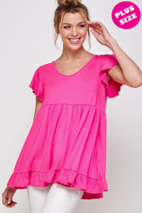 C14-A-1-WT2433X FUCHSIA PLUS SIZE TOP 2-2-2