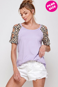 C16-A-2-WT6208C-2X LAVENDER PLUS SIZE TOP 2-2-2