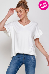 C18-A-3-WT2431X IVORY PLUS SIZE TOP 2-2-2