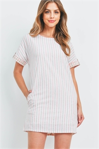 S11-5-1-D43304 BLUSH STRIPES DRESS 2-2-2