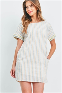 S11-5-1-D43304 YELLOW STRIPES DRESS 2-2-2