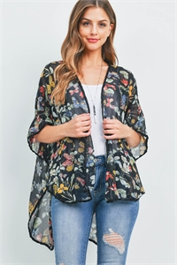 C58-A-1-CD30256-CF846 BLACK WITH BUTTERFLY PRINT KIMONO 2-3