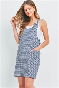 C70-A-1-OSD20633-CK385 NAVY CHECKERED OVERALL SKIRT 3-4