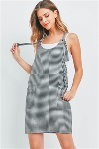 C70-A-1-OSD20633-CK385 BLACK CHECKERED OVERALL SKIRT 2-1