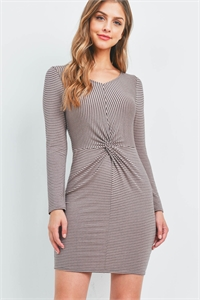 C70-A-1-D51125-PJ545 TAUPE STRIPES DRESS 2-1