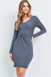 C54-A-1-D51125-PJ545 INDIGO STRIPES DRESS 2-2