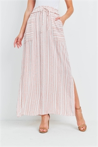 S10-20-2-SD20578-LW536 IVORY RUST STRIPES SKIRT 2-2