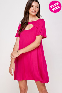 C52-A-2-WD4410X FUCHSIA PLUS SIZE DRESS 2-2-2